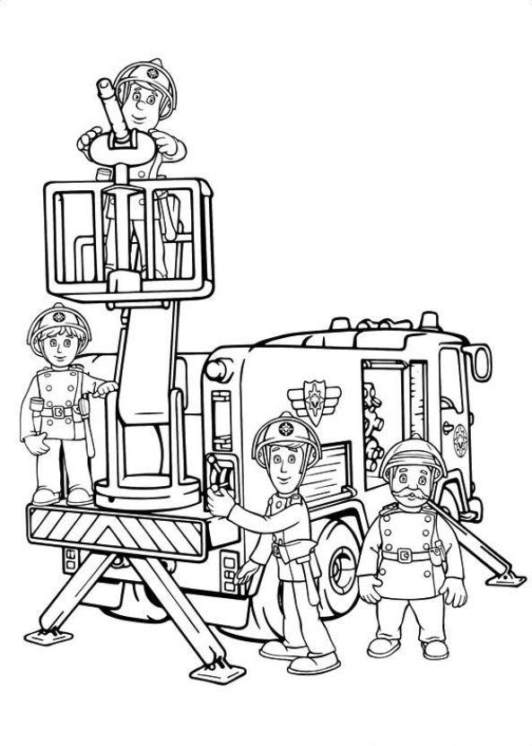 Malvorlage - Feuerwehrmann sam ausmalbilder dex4k