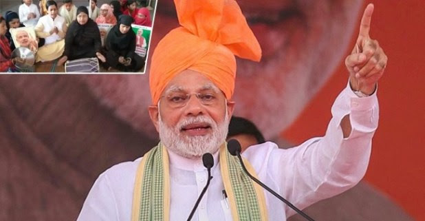 Women Congratulate Prime Minister Narendra Modi by Singing a 'Complimentary Song' Greeting BJP