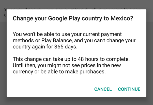 how to change country in google play store account in 2020