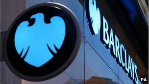 A Barclay's sign