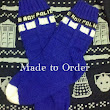 Made to Order: Doctor Who TARDIS Socks, hand knit, wool
