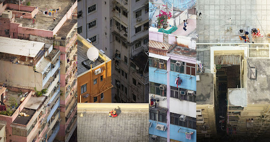 Photos of Daily Life on the Rooftops of Old Buildings in Hong Kong