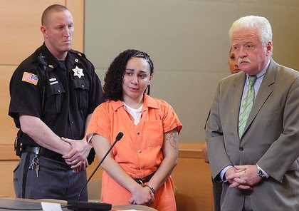 Jessica Vega, left, appears with her attorney Jeremiah Flaherty at Orange County Court in Goshen, New York.