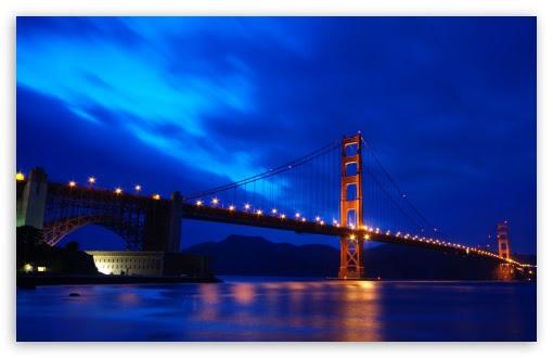 Golden Gate Bridge At Night 4k Hd Desktop Wallpaper For