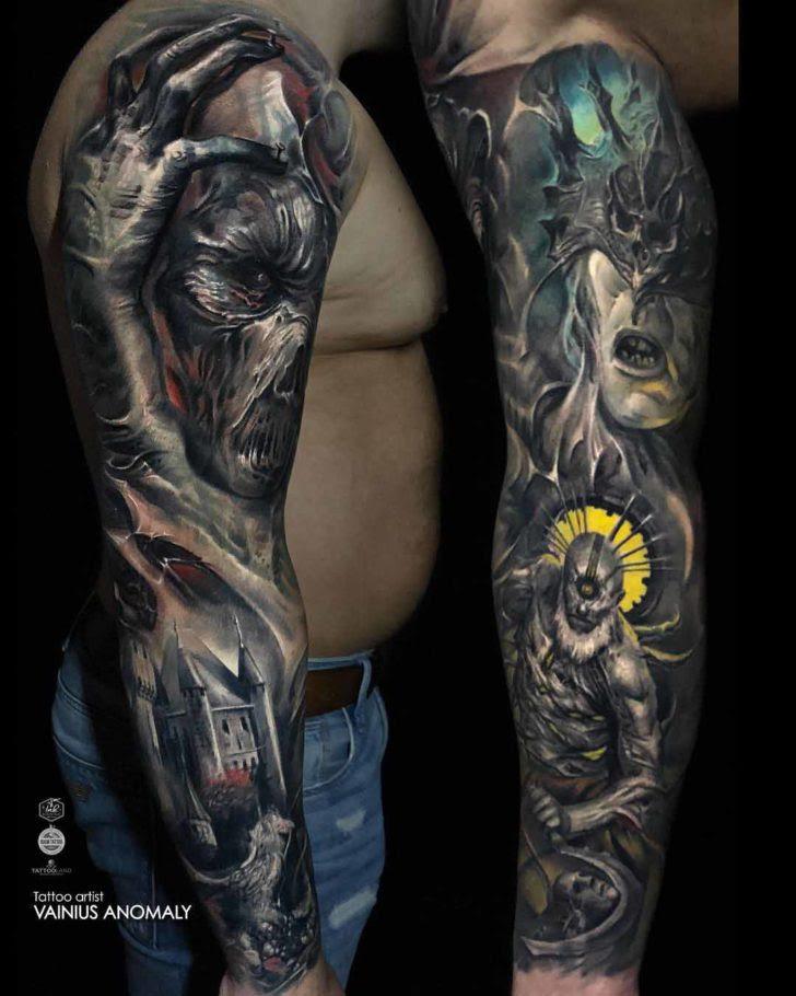 Evil Tattoo Sleeve | Best Tattoo Ideas Gallery