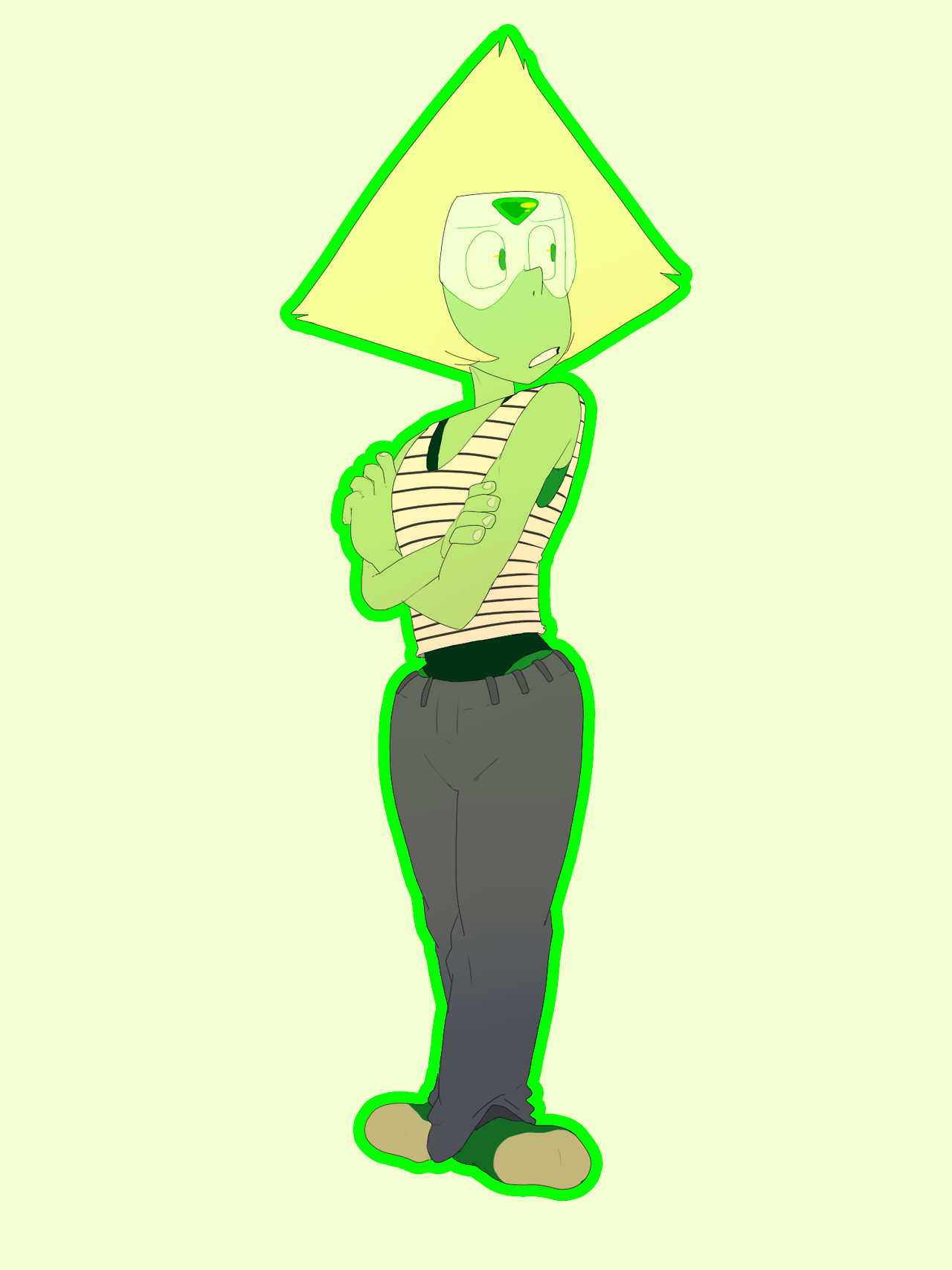 wanted to draw her in pants