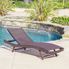 Kauai Textilene Chaise Lounge, Brown