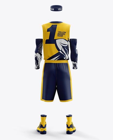 Download Download Men's Full Basketball Kit with V-Neck Jersey ...