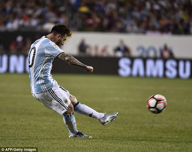 Messi scored his second goal of the night with a stunning free-kick, not long after coming off the bench