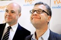Kent Persson och idolen Fredrik Reinfeldt