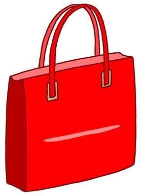 生活用品他のイラストアート素材 鞄カバンかばん赤レッド