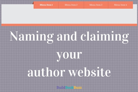Naming and claiming your author website - Build Book Buzz