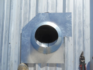 Stove Pipe Collar Cut to Form