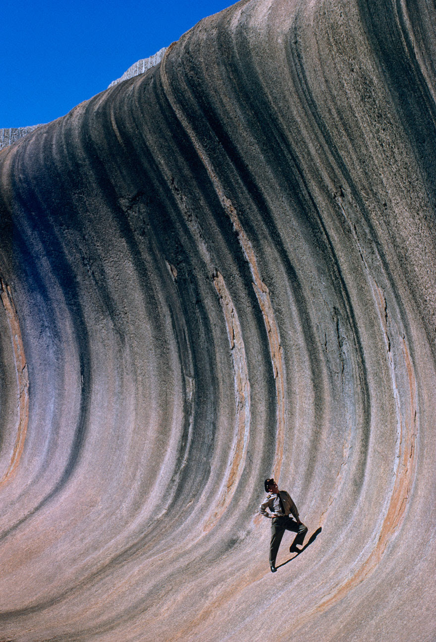 A Wave Of Rock Shaped By Wind And Rain Towers Above A Plain In Western Australia, September 1963
