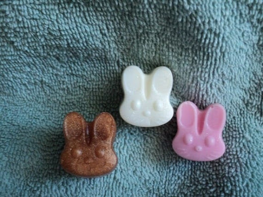 Mini Bunny Soap  Vanilla Scent. Kids soaps. by heffernanscrafts