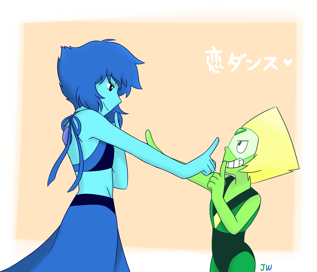 💚Lapidot  and  恋ダンス(Love dance)💙   I've always wanna draw this XDDD This dance is so cute <3 (and also hard to dance)