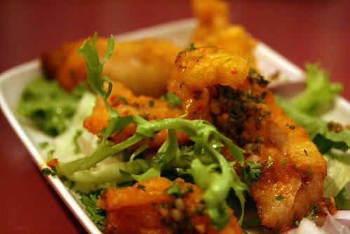 Red mullet tempura