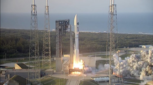 Muscly Atlas V Rumbles off from Florida on Direct Geostationary Delivery with CBAS & EAGLE – AFSPC-11 – Atlas V