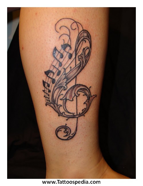 Butterfly Tattoo Designs With Music Notes 4