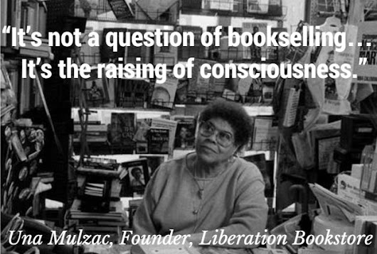It's not a question of bookselling…It's the raising of consciousness