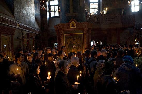 Lenten service in Sretensky Monastery. Photo by M. Rodionov, Pravoslavie.ru