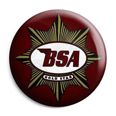 BSA Motorcycles   Gold Star Logo Button Badge, Fridge