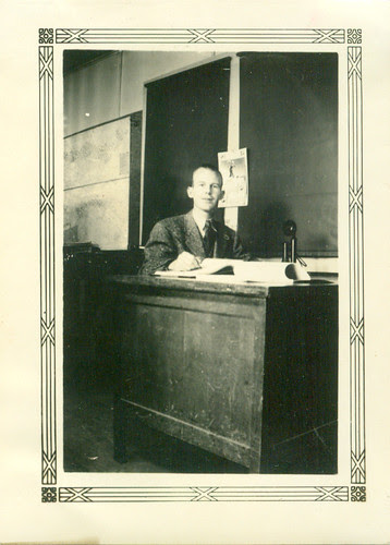 One Man at Desk