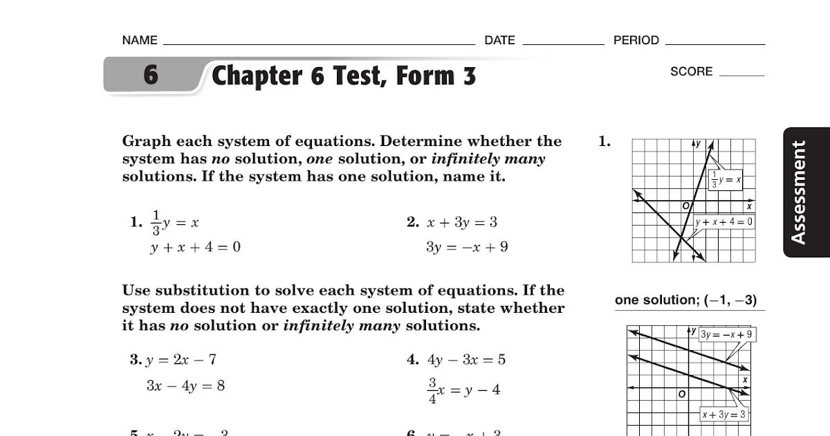 Bestseller: Glencoe Algebra 1 Chapter 6 Test Form 2d ...