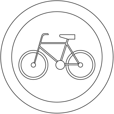 Dibujo De Prohibido Bicicletas B 9 Para Colorear Dibujos Para