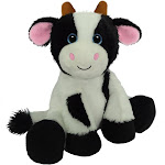 First & Main 7803 7 in. Sitting Floppy Friends Cow Plush Toy