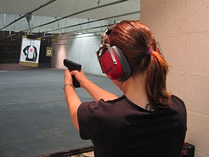 Indoor Shooting Range at Sarasota, Florida, US...
