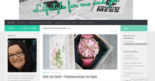 Blogdesign - Mein Blog hat ein neues Kleidchen| Lifestyle for me and you