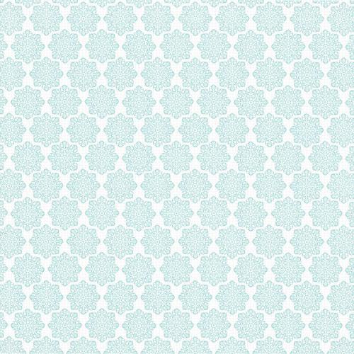 Batik Flower Snowflakes 12 and a half inch 350dpi