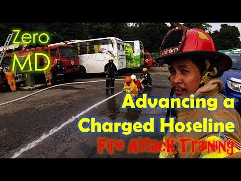 How to Advance a Charged Hoseline for Fire Attack | Video