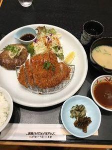 淡路牛と国産豚のハンバーグ&ロースかつ御膳.JPG