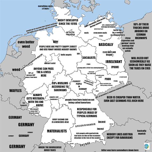 A brief look into German society and stereotypes,... - Maps on the Web
