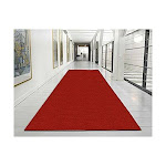 """Ottomanson Ottohome Collection Solid Design Runner, 20"""" X 59"""", Red"""