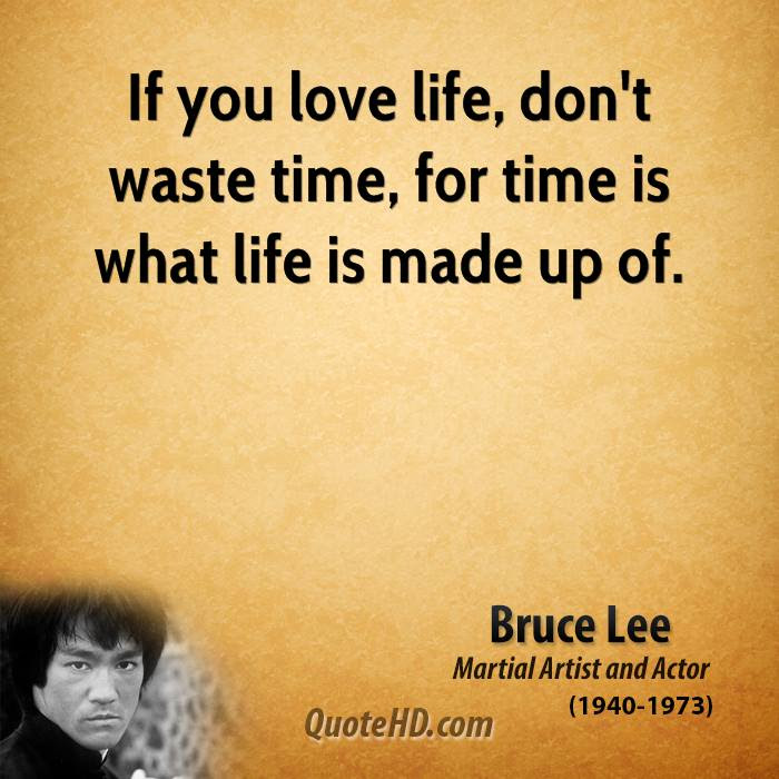 Bruce Lee Time Quotes Quotehd