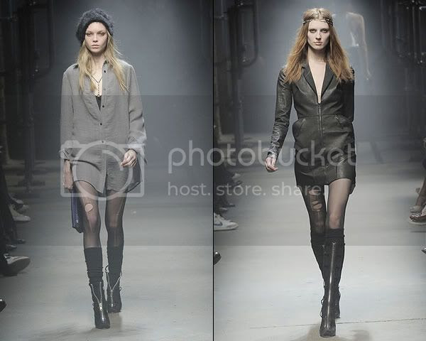 Laddered stockings at Alexander Wang A/W 2008