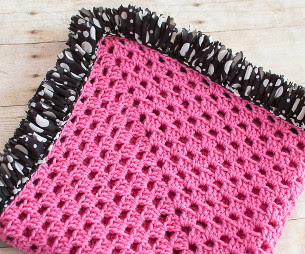 Ruffle Edged Baby Blanket