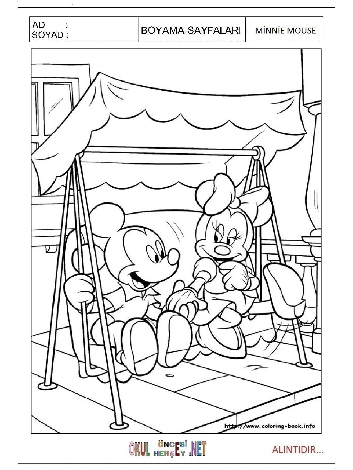 50 Harika Minnie Mouse Boyama Resmi Yazdırılabilir Boyama Sayfaları