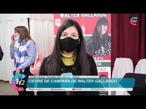 Cierre de Campaña de Walter Gallardo