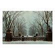 Winter Central Park NY Vintage c1910 Poster
