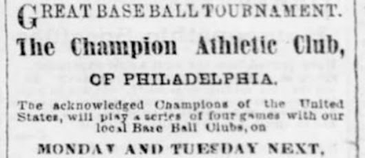 "A ""Great Base Ball Tournament"""