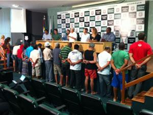 20 dos 22 presos na Operção Brão de Drummond são apontadores (Foto: Felipe Néri / G1)