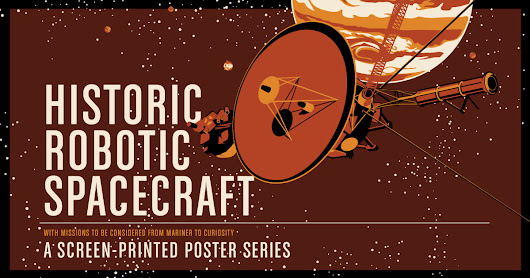 Historic Robotic Spacecraft Screen Print Series