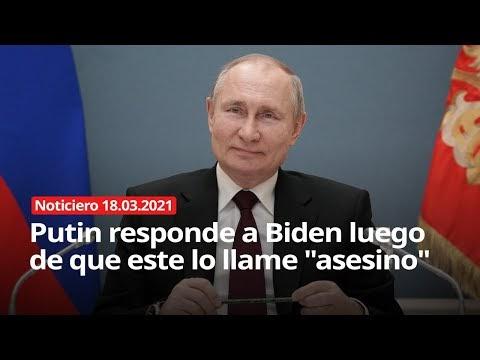 "Putin responde a Biden luego de que este lo llame ""asesino"" - Noticiero ..."