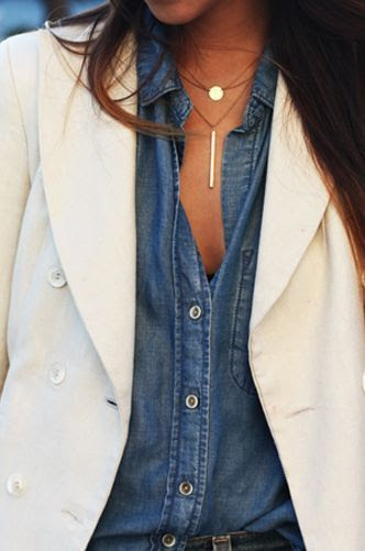 145 .denim with blazer