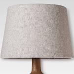 Small Gray Herringbone Lamp Shade - Threshold