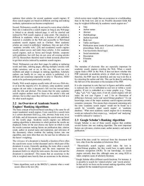 Academic search engine optimization (aseo) - optimizing